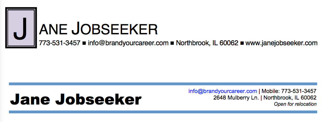 How To Write A Great Resume Part 1 Of 4 The Header Brand Your
